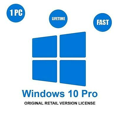Activation Code License Key Genuine Windows 10 Professional Pro Key 32 / 64 B...