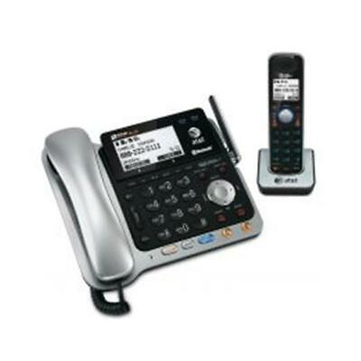 At&T TL86109 DECT6.0 2-Line Corded-Cordless Phone with Digital Answering
