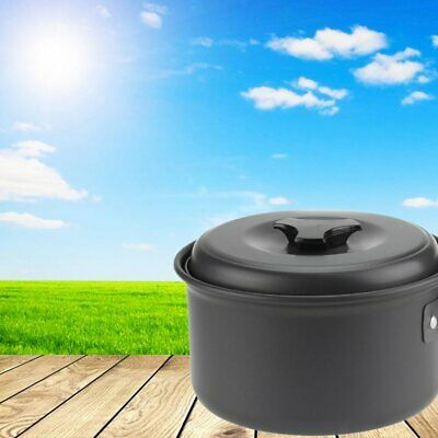 Aluminum Picnic Cooking Pot Frying Pan Bowl Portable Camping Cookware  6Y