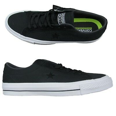 2aa9f97bc619 Converse One Star Canvas Ox Shoes Size 10.5 Mens Skater Black White 153710C  New