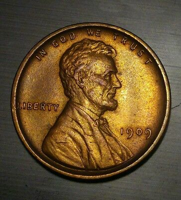 1909 VDB RD #3 Lincoln Wheat Cent Penny Coin EXCELLENT condition (see photos)