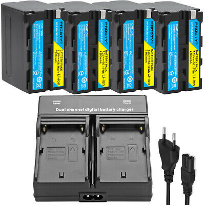 NP-F970 NP-F960 Battery + Dual Charger for Sony NP-F770 F570 NP-F550 NP-F950