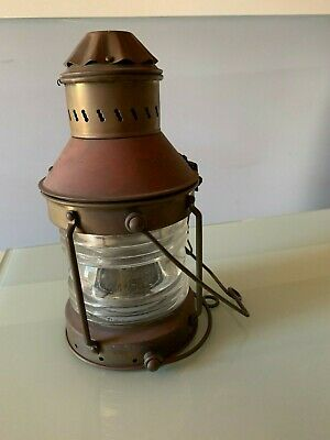 Lamp Clear Coloured Glass Kero Collectables Vintage Retro