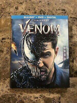 Marvel Venom Tom Hardy Blu Ray Dvd Digital Copy With Slip Cover New