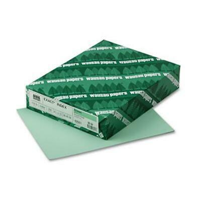 Wausau Paper 49561 Exact Index Card Stock 110 lbs. 8.5 x 11 Green 250 Sheets-...