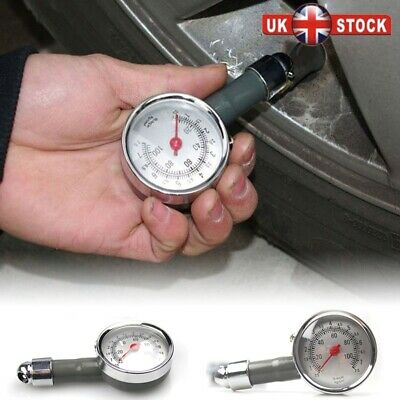 Professional Tyre Pressure Gauge Air Measurement PSI/BAR Release Button Car NEW