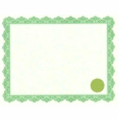 Geographics Acid-Free Printable Certificate With Seals - Optima Green Pack 25