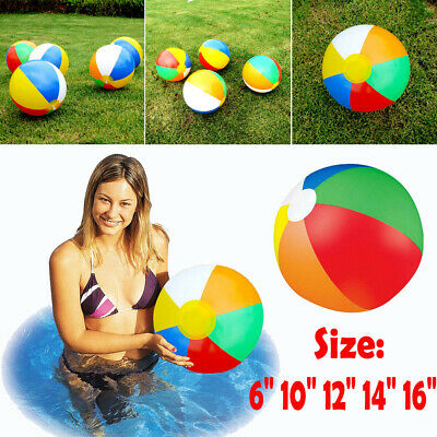 "Uk Inflatable Blowup Panel Beach Ball 6""~16"" Holiday Swimming Pool Party Toy"