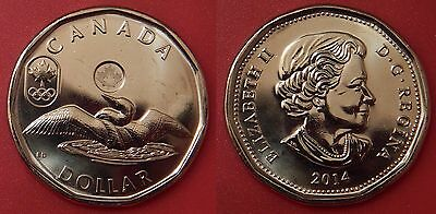 Brilliant Uncirculated 2014 Canada Lucky 1 Dollar From Mint's Roll