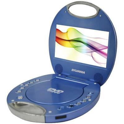 Sylvania SDVD7046-BLUE 7 in. Portable DVD Players with Integrated Handle - Blue
