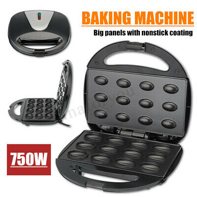 Professional Electric Machine Panini Maker Waffle Iron Griller Baker Nuts