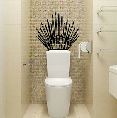 US GAME OF THRONES Iron Throne  Vinyl Decal Toilet Wall Sticker Home Decor Wrap