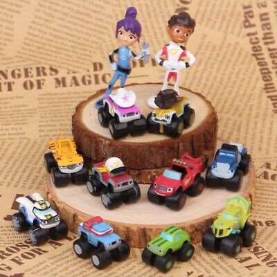 Blaze And The Monster Machines Vehicle 12 PCS Action Figure Cake Topper Toy Gift