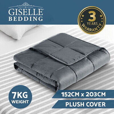 Giselle Bedding 7KG Weighted Gravity Blanket Minky Deep Relax Calming Adult
