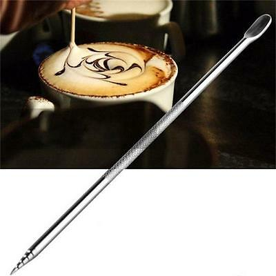 Stainless Steel Cappuccino Espresso Coffee Latte Decorating Art Pen Cafe Tool HZ