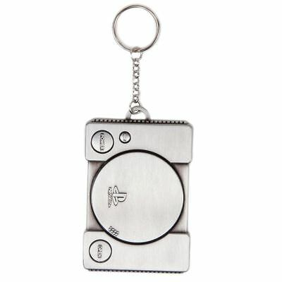 Official Retro PlayStation 1st Generation Console Style Keyring - Silver Gamers