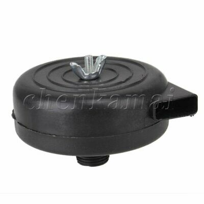 Black Plastic Air Intake Compressor Pump 19mm Male Thread Filter Silencer