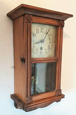 Miniature Wall Clock Junghans Antique Key Wind Wall Clock Pendulum