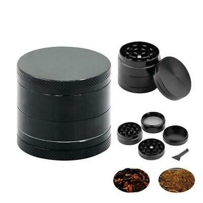 Mini 4-Layers Herb Grinder Spice Tobacco/Weed Smoke Metal Crusher Leaf Design AU