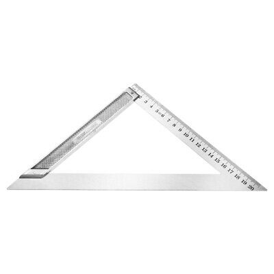 200mm Triangle Square Ruler Stainless Steel Right Angle Woodworking Tool