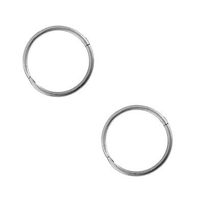 "Studex Sensitive Sterling Silver Small 10mm 3/8"" Inch 18GA Hinged Hoop Earrings"