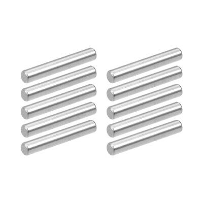 10Pcs 4mm x 25mm Dowel Pin 304 Stainless Steel Shelf Support Pin Silver Tone