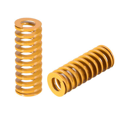 10mm x 25mm Spiral Stamping Light Load Compression Mould Die Spring Yellow 10Pcs