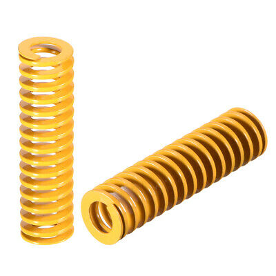 10mmx35mm Spiral Stamping Light Load Compression Mould Die Spring Yellow 10 Pcs
