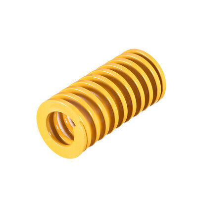 25mm OD 50mm Long Spiral Stamping Light Load Compression Mould Die Spring Yellow