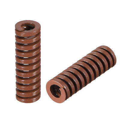 10x30mm Spiral Stamping Extra Heavy load Compression Mould Die Spring Brown 2pcs