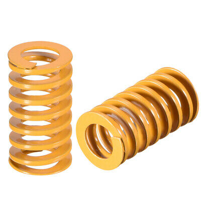 12mmx21mm Spiral Stamping Light Load Compression Mould Die Spring Yellow 5Pcs