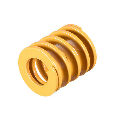 27mm OD 30mm Long Spiral Stamping Light Load Compression Mould Die Spring Yellow