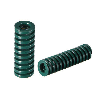 10x 35mm Long Spiral Stamping Heavy Load Compression Mould Die Spring Green 2Pcs
