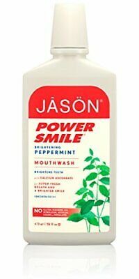 Jason Natural Powersmile Peppermint Alcohol and saccharin free Mouthwash 473ml