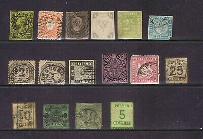 Germany German States nice lot of 16 MH and used very old stamps mixed condition