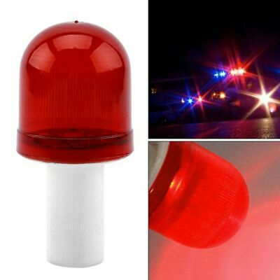 LED Road Hazard Block Lamp Flashing Safety Traffic Cone Topper Warning Light Red