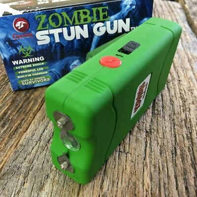 GREEN Cheetah 2.5 Million Volt Stun Gun Rechargeable w/LED light SELF DEFENSE