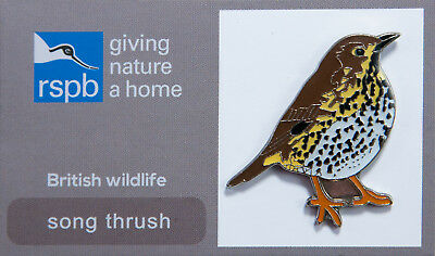RSPB Pin Badge | Song Thrush | RSPB GNaH [00546]