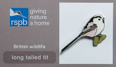 RSPB Pin Badge | Long-tailed Tit | RSPB GNaH [00354]