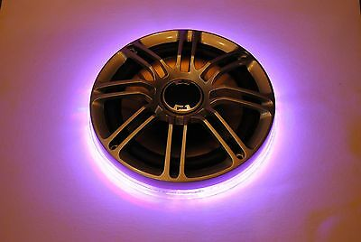 6.5 Inch PIONEER Speaker LED Color Ring Drilled Mount Waterproof Marine 6 1//2/""