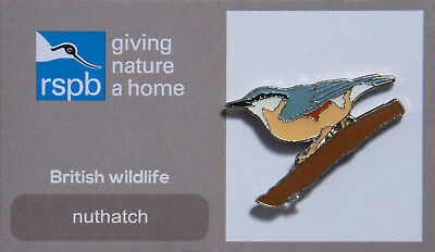 RSPB Pin Badge | Nuthatch | RSPB GNaH [01170]