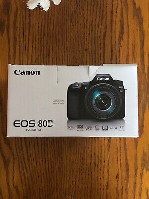 Canon EOS 80D 24.2MP Digital SLR Camera - Black (Body Only) Excellent Condition