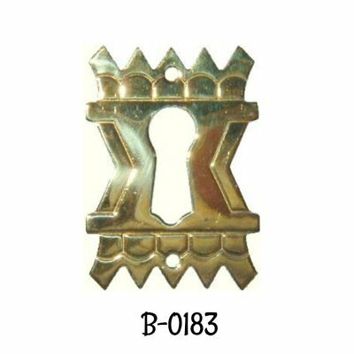 Keyhole Cover Antique Eastlake Victorian Stamped Brass Keyhole Cover Escutcheon