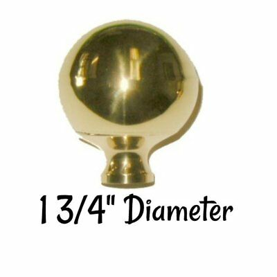 """1 3/4"""" Brass bed ball - frame rail antique decoration mounting post Newel Post"""