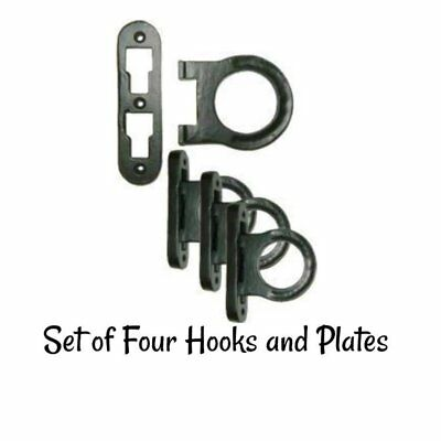 Cast Iron Horseshoe Bed Rail -Bedfast fasteners Bed Frame Kooks Anchors Antique