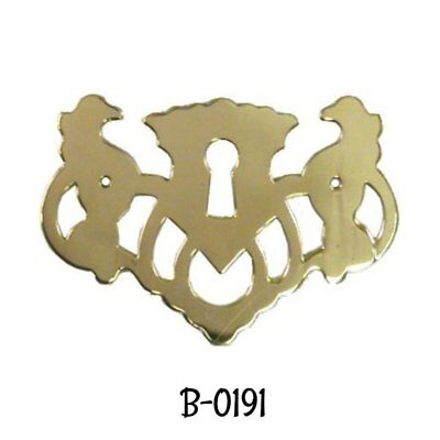 Keyhole Cover Stamped Brass Openwork Chippendale Style Keyhole Cover Escutcheon