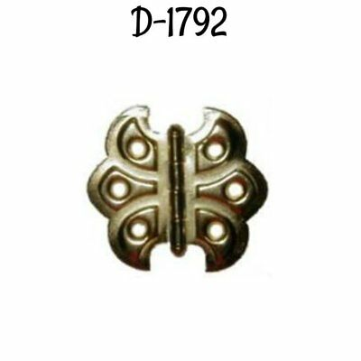 Butterfly Hinge - Brass Plated Steel, shell design Antique Cabinet Vintage