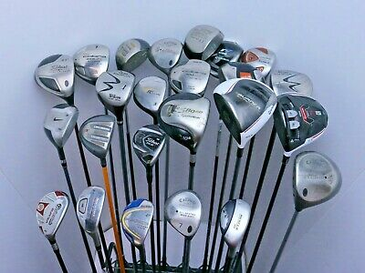 Lot of 24 Golf Club Drivers Woods Hybrids Titleist Taylormade MSRP $2900