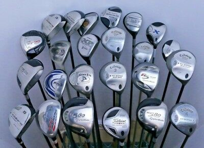 Lot of 24 Golf Club Fairway Woods Taylormade Ping Titleist Callaway MSRP $2700