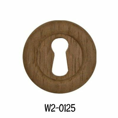 "Keyhole Cover Round Wood Eastlake Walnut Large Key Hole Cover 1 5/16"" Diameter"